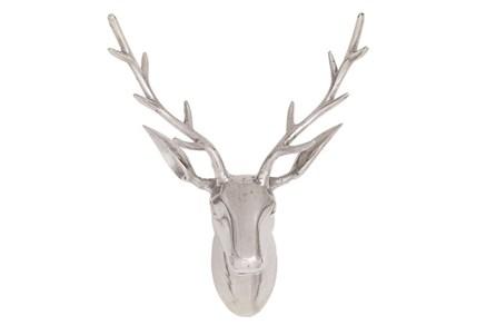 23 Inch Aluminum Reindeer Head
