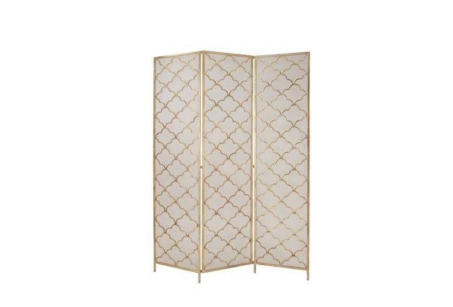Metal Wire 3-Panel Screen - 360
