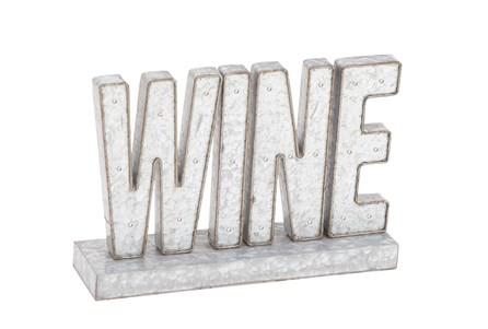 Metal Word Display-Wine