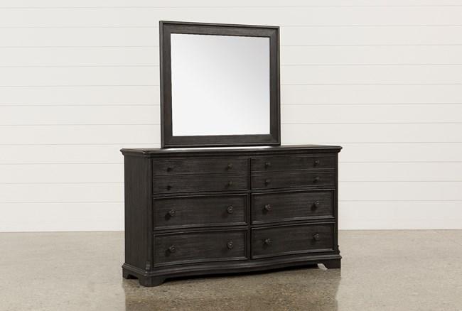 Caira Black Dresser/Mirror - 360