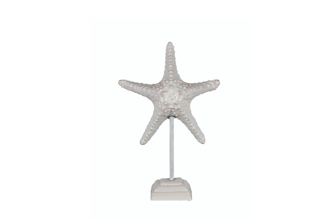 White Starfish On A Stand - 360