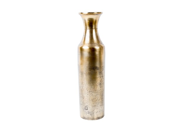 Raw Gold Aluminum Vase Small - 360