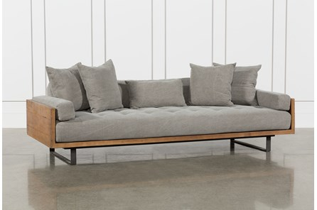 Reclaimed Natural Stonewash Twill Stone Sofa - Main
