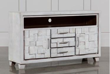 White Wash 3-Drawer/2-Door Plasma