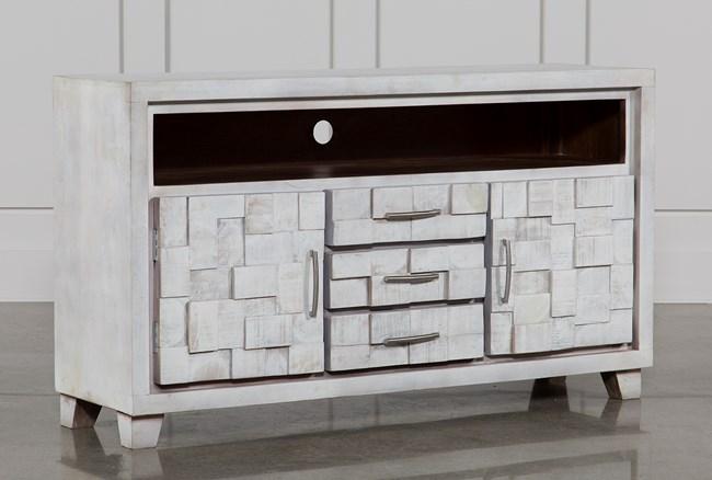 White Wash 3-Drawer/2-Door Plasma - 360