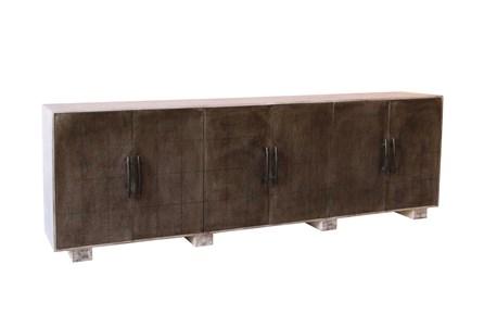 White Wash 6-Door Industrial Sideboard