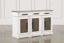 White Wash 3-Door/3-Drawer Sideboard