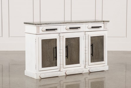 White Wash 3-Door/3-Drawer Sideboard