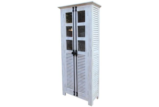 White Wash 2-Door Tall Cabinet - 360
