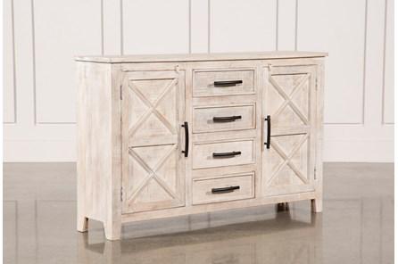 White Wash 4-Drawer/2-Door Chest - Main