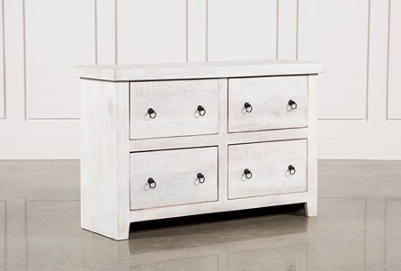 White Wash 4-Drawer Chest