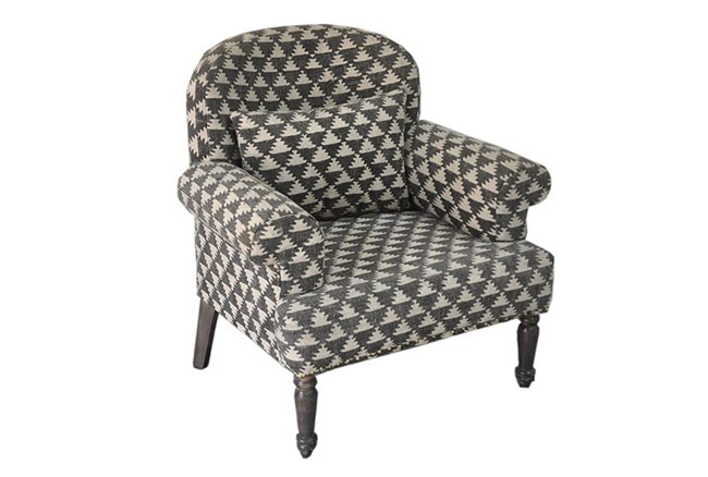 Charcoal Geo Chair - 360