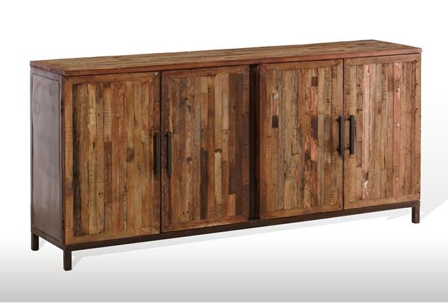 "Vintage Finish 4-Door 80"" Sideboard - 360"