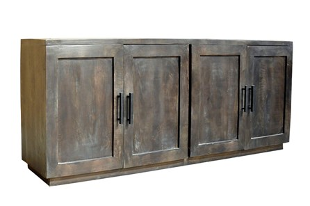 Charcoal Finish 4-Door Jumbo Sideboard - Main