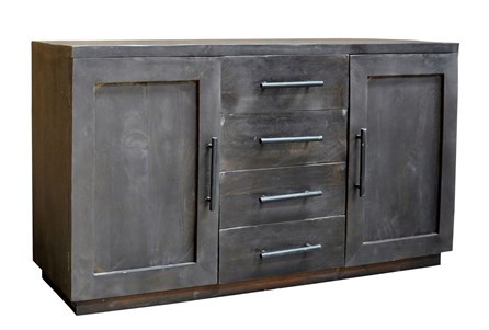 Charcoal Finish 4-Drawer/2-Door Sideboard