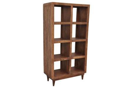 Natural Antique Finish 8-Hole Display Unit