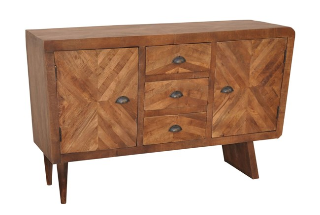 Natural Antique Finish 2-Door/3-Drawer Console - 360