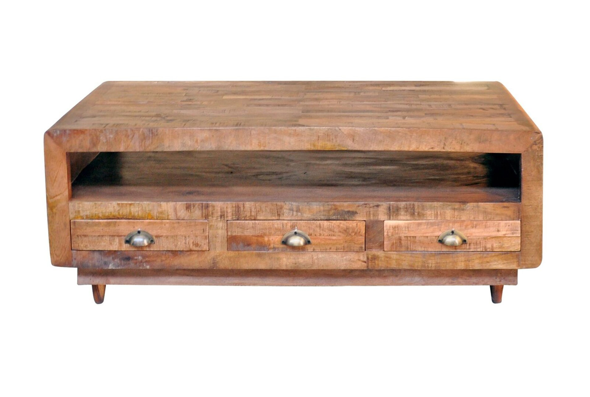 Antique Walnut Finish 6 Drawer Rectangular Coffee Table Qty 1 Has Been Successfully Added To Your Cart