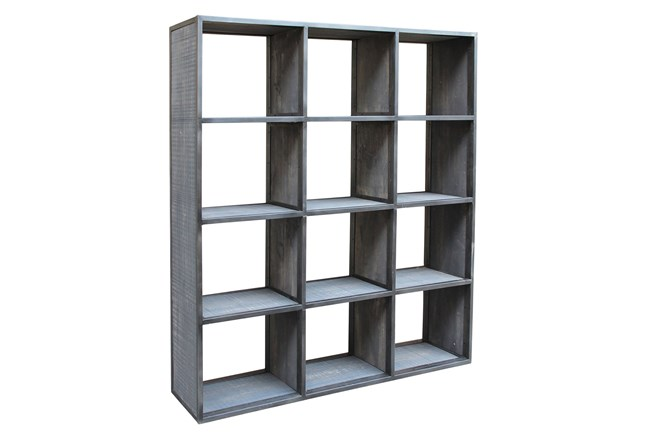 Grey Wash Finish 12-Hole Display Unit - 360