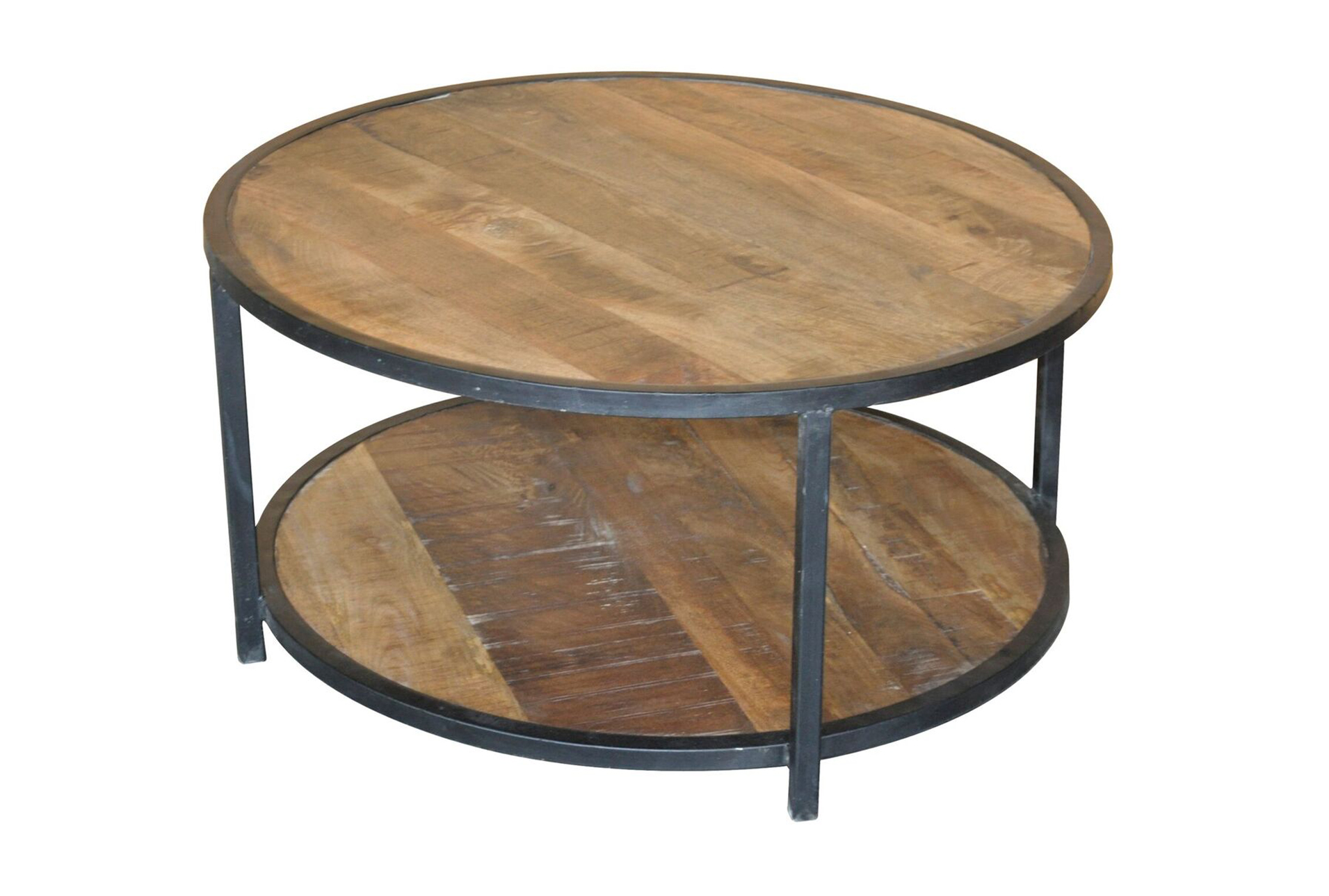 Sawan Finish 36 Inch Round Coffee Table   360 Elements