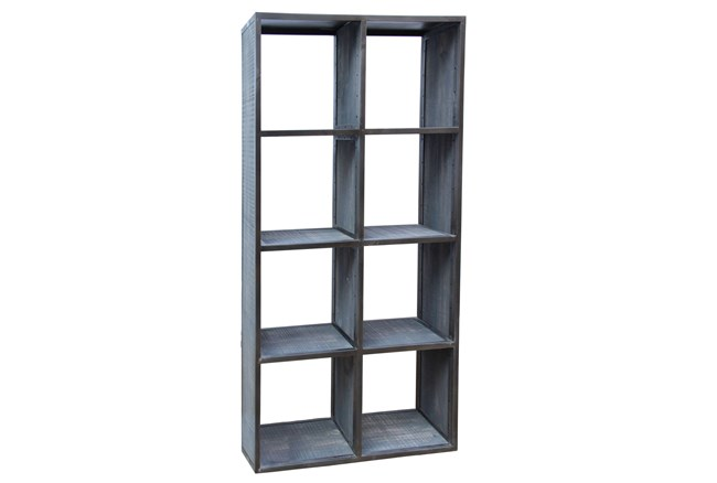 Grey Wash Finish 8-Hole Display Unit - 360