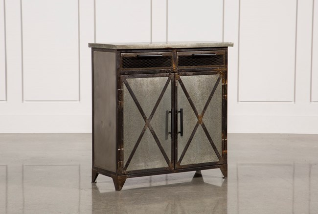 Antique Metal Finish 2-Door/2-Drawer Server - 360