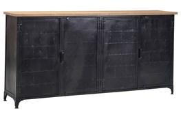 Oil Pale Finish 4-Door Sideboard