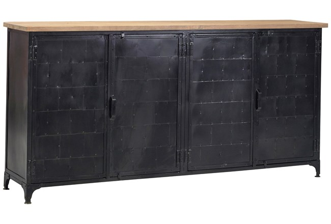 Oil Pale Finish 4-Door Sideboard - 360