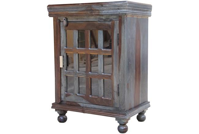 Pacific Steel 1-Door Glass Cabinet - 360