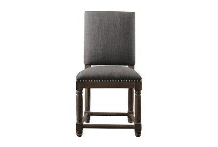 Reclaimed Grey Dining Chair W/Granite Nailheads