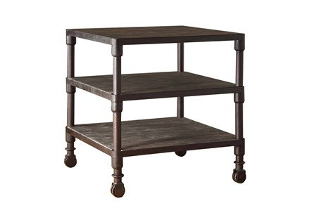 Reclaimed Grey Square End Table - Main