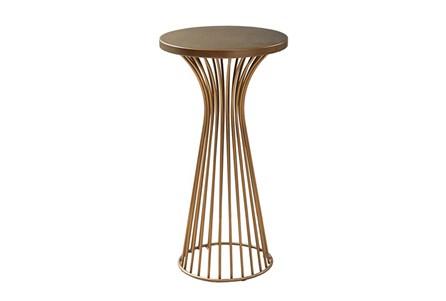 Golden Bronze 30 Inch Pedestal Table