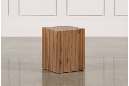 Nutmeg & Metal Square Accent Table - Main