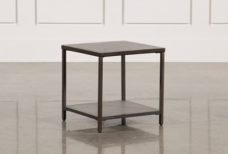 Concrete & Metal Square Bunching Table