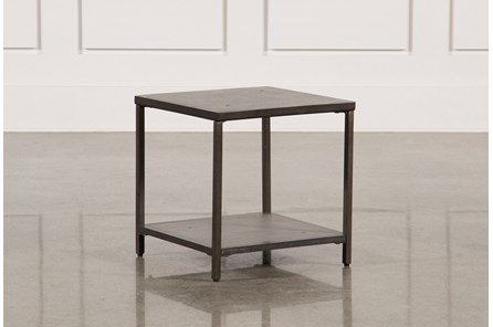 Concrete & Metal Square Bunching Table - Main