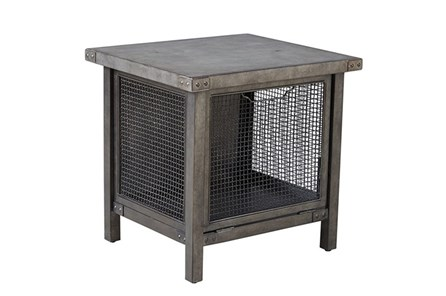 Patina Concrete & Mesh End Table - Main