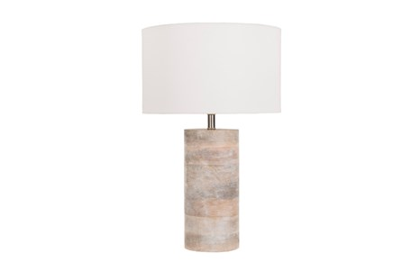 Table Lamp-Natural Wood