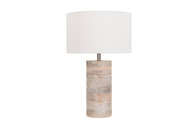 Table Lamp-Natural Wood - 360