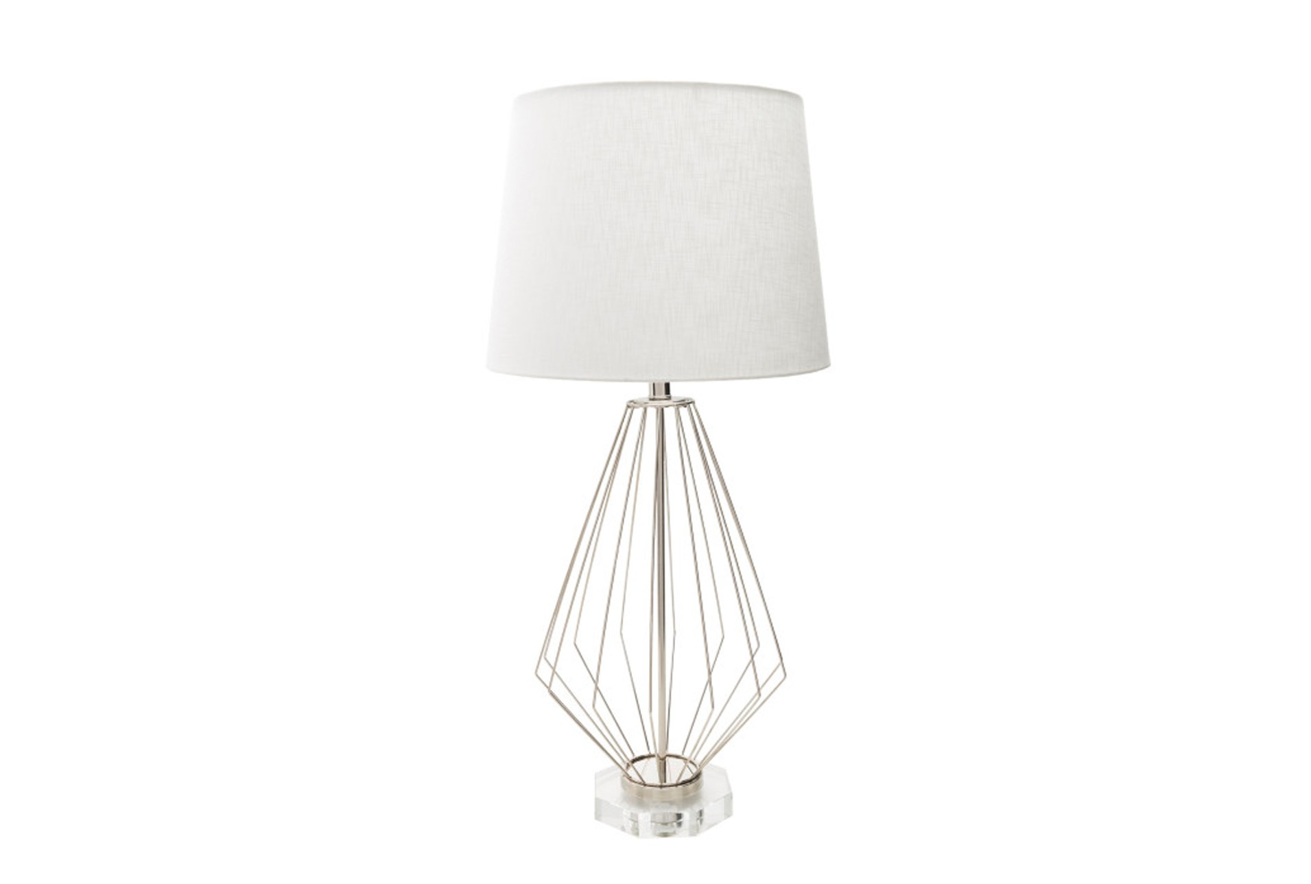 Table Lamp Geometric Wire Living Spaces