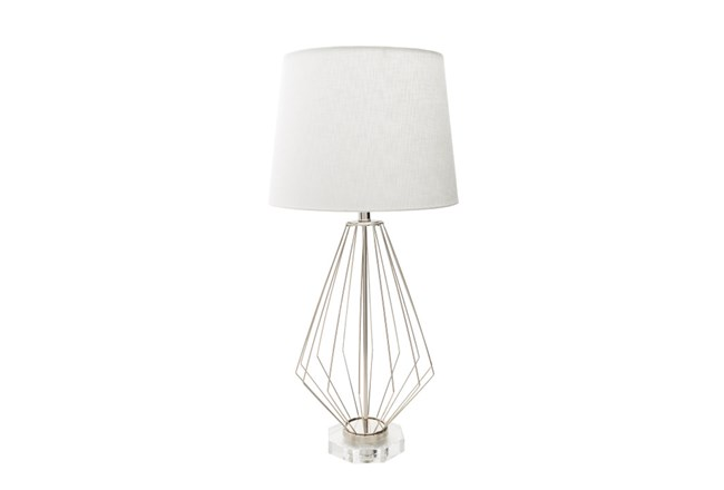 Table lamp geometric wire living spaces table lamp geometric wire 360 keyboard keysfo Images
