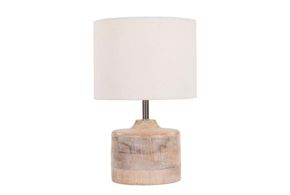 Table Lamp-Natural Wood Tall