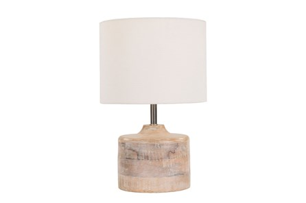 Table Lamp-Natural Wood Tall
