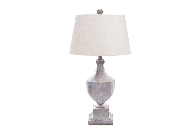 Table Lamp-Grey Washed Urn - 360