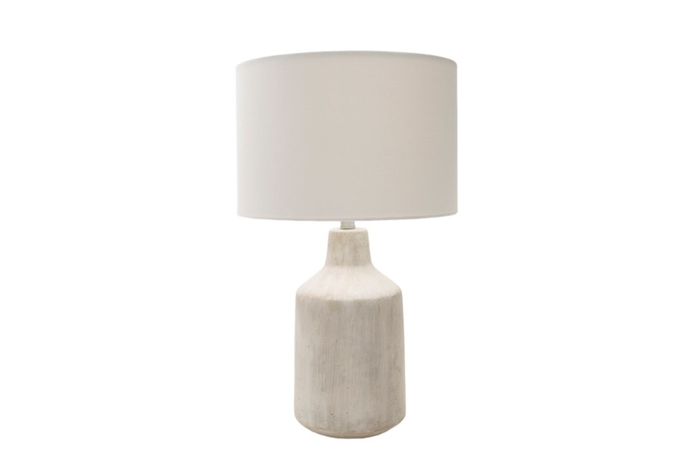 Table Lamp-Concrete Drum Light
