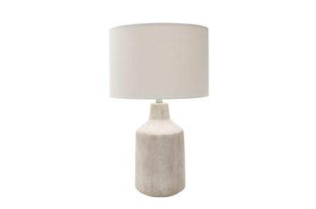 Table Lamp-Concrete Drum Light