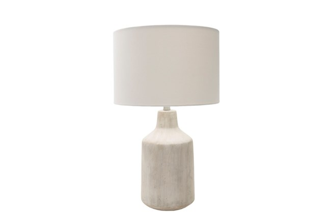 Table Lamp-Concrete Drum Light - 360