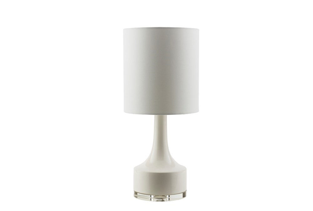 Table Lamp-Contempo White