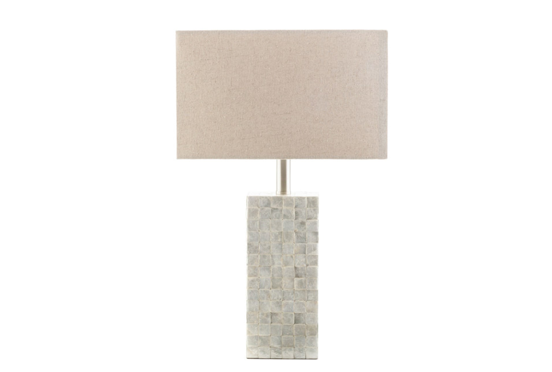 Table Lamp Capiz Shell Tall Living Spaces