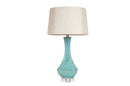 Table Lamp-Aqua Drip