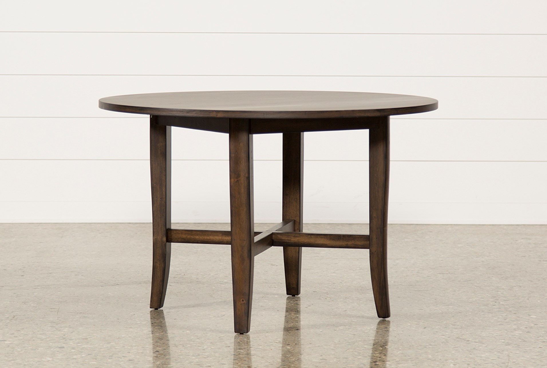 grady round dining table living spaces. Black Bedroom Furniture Sets. Home Design Ideas